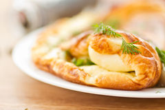 Omelette with salted mackerel Royalty Free Stock Images