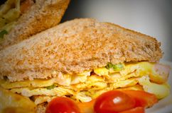 Omelette Sandwich Stock Images