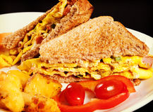 Omelette Sandwich Royalty Free Stock Image