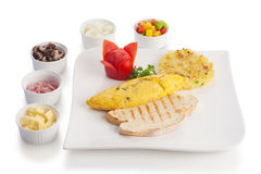 Omelette or scrambled egg Stock Photography