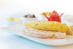 Omelette or scrambled egg Royalty Free Stock Photography