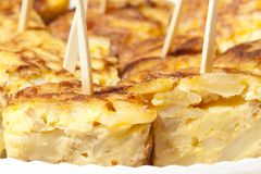 Omelette skewer Royalty Free Stock Photography