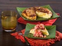 Omelette spagnola fotografia stock libera da diritti