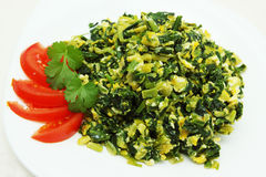 Omelette with Spinach stock photography