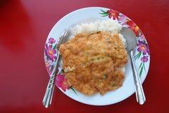Omelette su riso Fotografia Stock Libera da Diritti