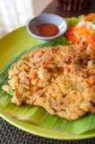 Omelette su un piatto Fotografia Stock Libera da Diritti