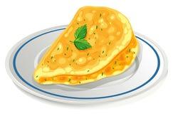 Omelette sul piatto illustrazione di stock