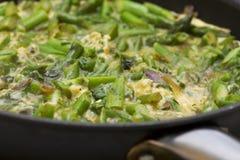 omelette szparagowa niecka Zdjęcie Royalty Free