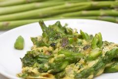 omelette szparagowy talerz Obrazy Stock