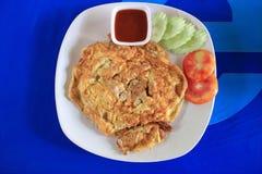 Omelette tailandese di stile Immagini Stock Libere da Diritti