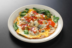 Omelette taiwanaise d'huître Photo stock