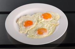 Omelette of three eggs Stock Photo