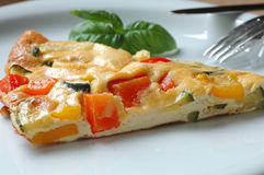 Omelette with Tomatoes Royalty Free Stock Image