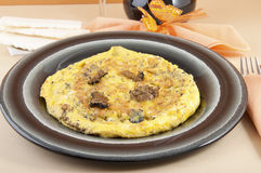 Omelette with truffles shaft Royalty Free Stock Images