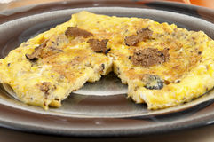 Omelette with truffles shaft Stock Photo