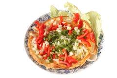Omelette végétale Images stock