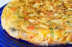 Omelette végétale Photographie stock libre de droits