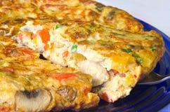 Omelette végétale Image libre de droits