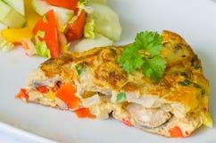 Omelette végétale Photos stock