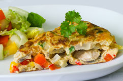 Omelette végétale Photo stock
