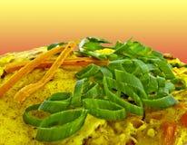 Omelette végétarienne Images stock