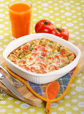 Omelette with vegetables Stock Photos