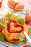 Omelette with vegetables Royalty Free Stock Images
