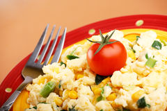 Omelette with vegetables Stock Images