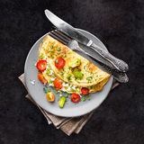 Omelette with vegetables Stock Image