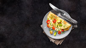Omelette with vegetables Royalty Free Stock Photos