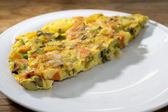 Omelette with vegetables Royalty Free Stock Image