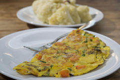 Omelette with vegetables Royalty Free Stock Photo