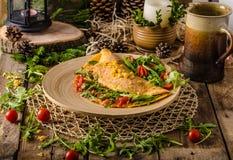 Omelette vegetariana Immagini Stock Libere da Diritti