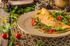 Omelette vegetariana Fotografia Stock