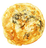 Omelette. On white background royalty free stock photography