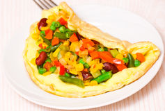 Free Omelette With Vegetable Mix Stock Photo - 35752390