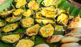 Omelette Z Rice Fotografia Stock