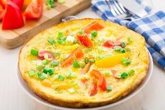 Omelette z warzywami Obraz Royalty Free