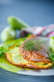 Omelette z zucchini Fotografia Stock