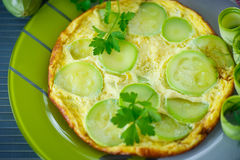 Omelette with zucchini Royalty Free Stock Photo