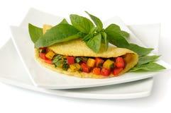 omelettgrönsaker Royaltyfria Bilder
