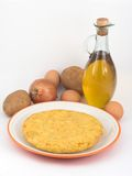 omelettpotatisar Arkivfoto