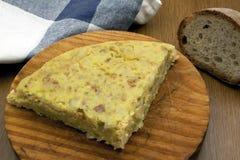 Omelettstück Lizenzfreie Stockbilder