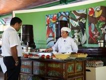 omelettstation Royaltyfria Bilder