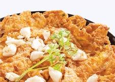Omelrt da carne de caranguejo Imagens de Stock
