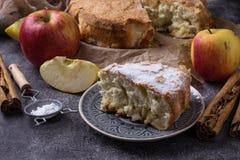 Omemade πίτα μήλων Ð  Στοκ Εικόνες