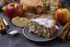 Нomemade apple pie. Comfort food. Selective focus Stock Images
