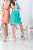 Omen in romantic dresses Stock Image