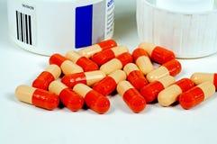 Omeprazole capsules. stock photography