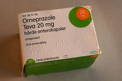 OMEPRAZOLE TEVA 20GM DE MÉDECINE Photos stock